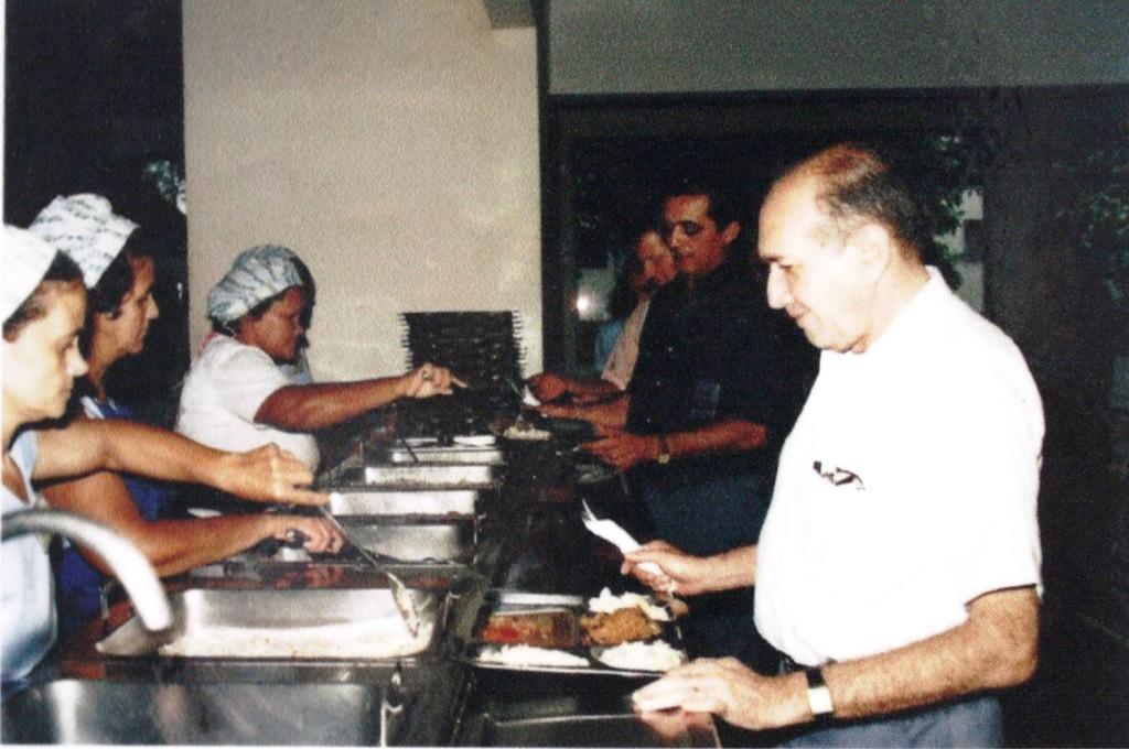Refeitório do Centro de Treinamento da EMATER-AM, em 1990